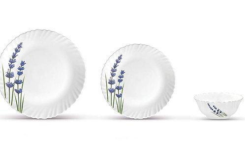 La Opala English Lavender Novo Collection Opalware Dinner Set CI-LO-14