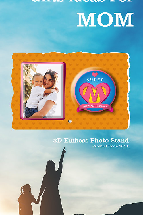 Personalised 3D Emboss Photo Stand  CI- 116