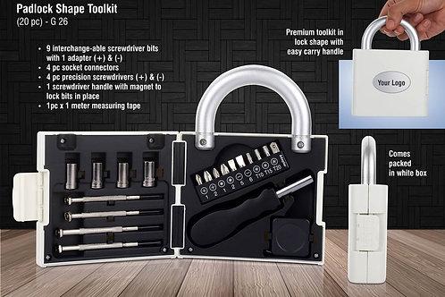 Padlock shape toolkit (20 pc) G-26