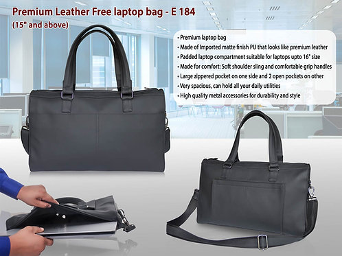 """Premium Leather Free laptop bag (15"""" and above) E-184"""