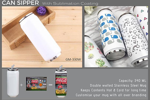 CAN SIPPER WITH SUBLIMATION (340 ML) GM-330