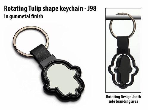 Rotating Tulip shape keychain J-98