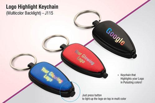 Logo highlight keychain (multicolor backlight) J-115