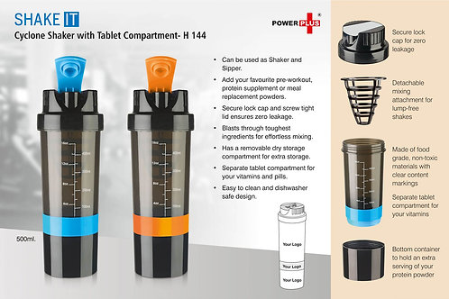 Shake it Cyclone shaker with Tablet compartment H-144