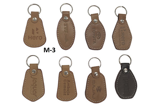 Leather Key Ring GROUP OF 8 @5.30 M-03