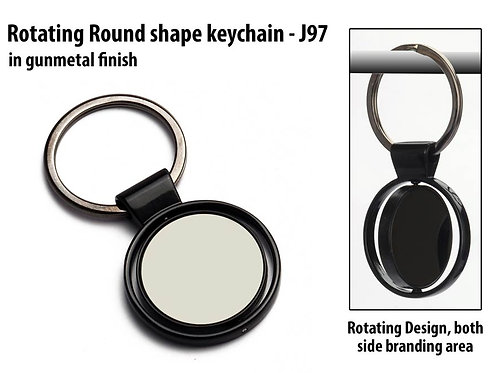 Rotating Round shape keychain J-97