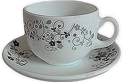 LaOpala Opalware Cup And Saucer - 6 Pieces CI-LO-30