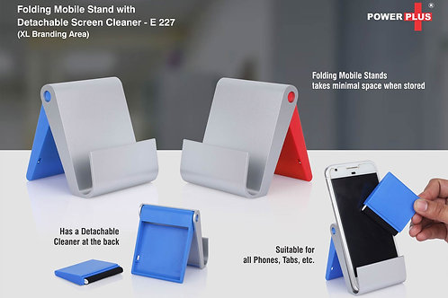 Folding mobile stand with detachable screen cleaner (XL branding area) E-227
