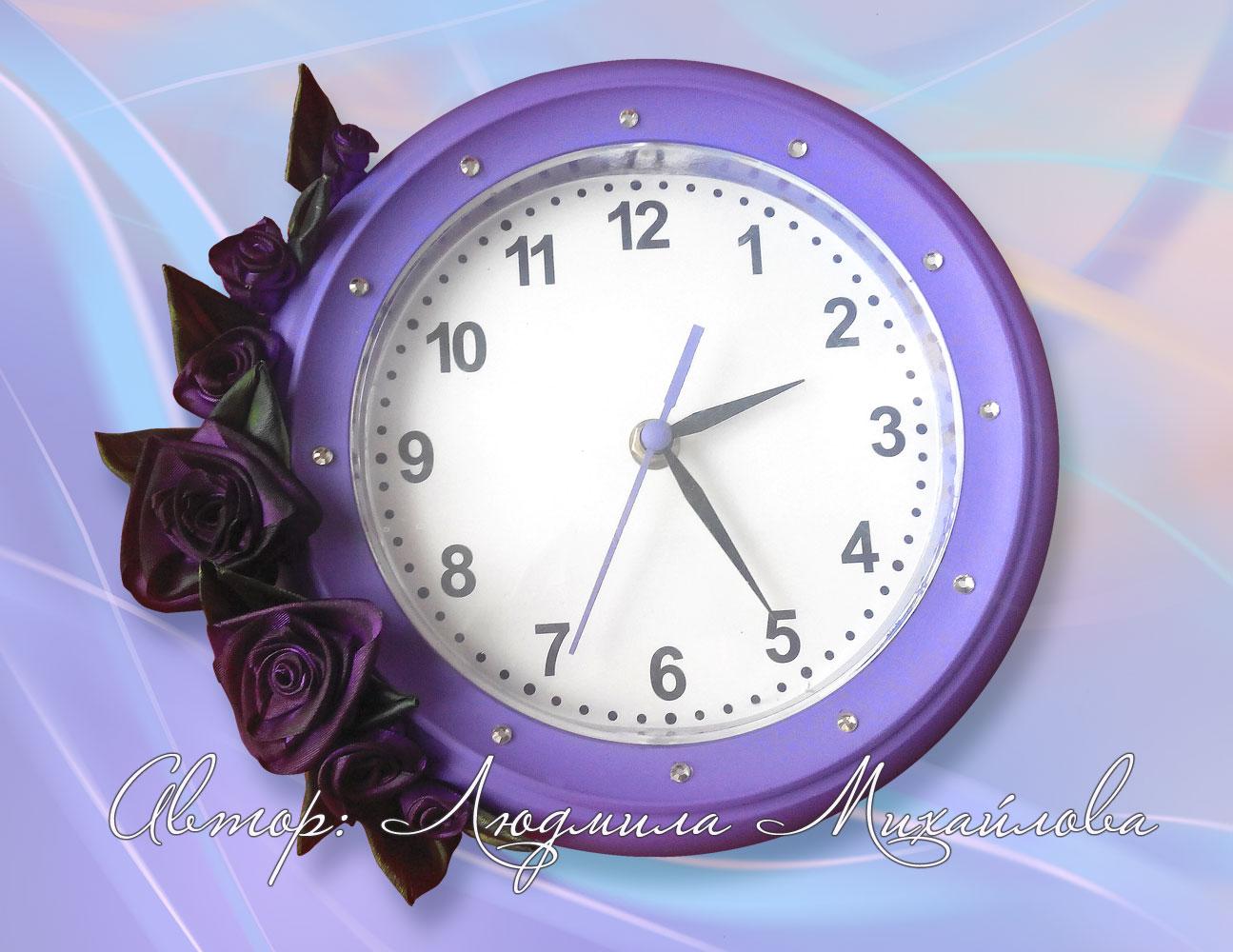 Часы с розами