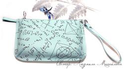 клатч из кожи Математика