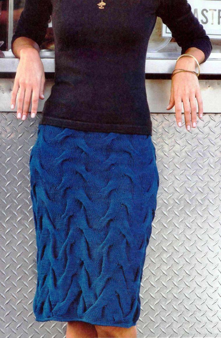 Вязанная юбка