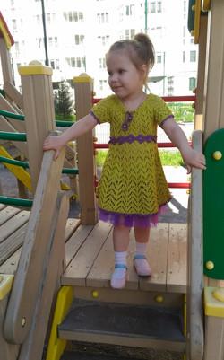 Платье-лайм детское