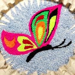 ковровая техника бабочка