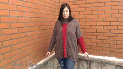 Пуловер объемной вязки