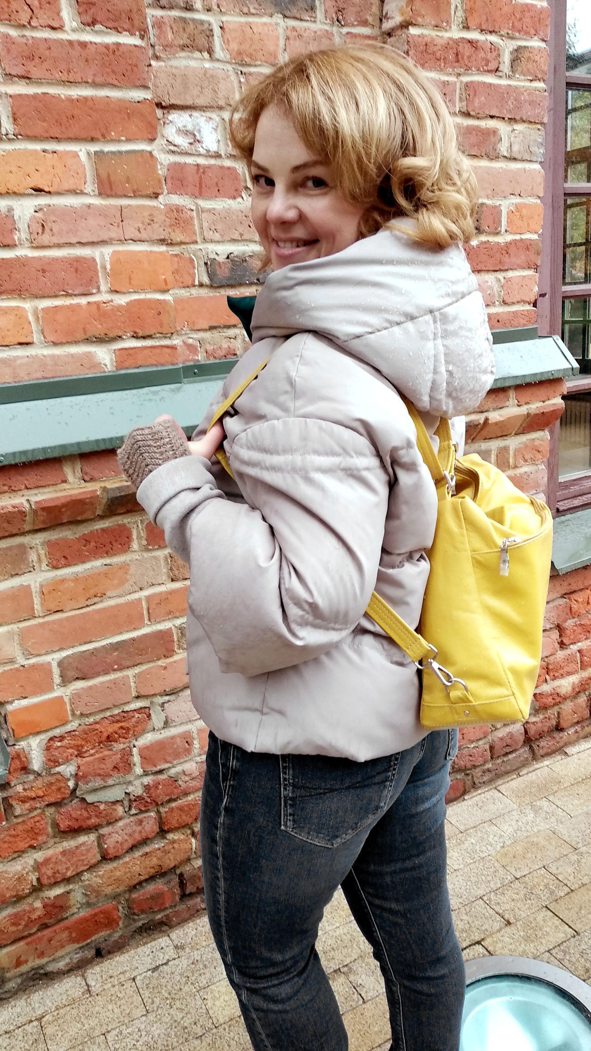 Сумка-рюкзакиз натуральной кожи