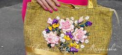 Дизайнерская сумка с розами