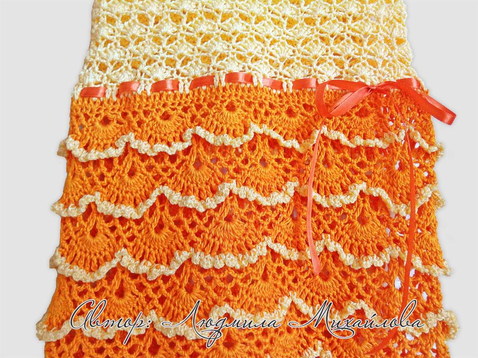 Платье-детское-желто-оранжевое_ленточка