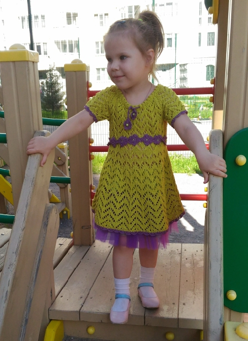 Платье-лайм для девочки