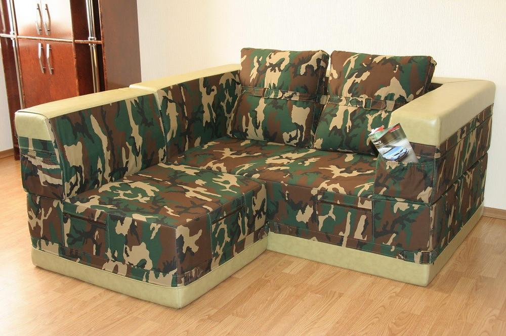стиль милитари диван мебель