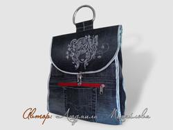 Дорожная сумка-косметичка из джинсы