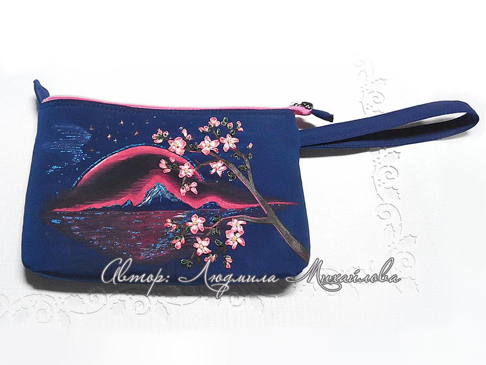 Дизайнерский клатч Сакура