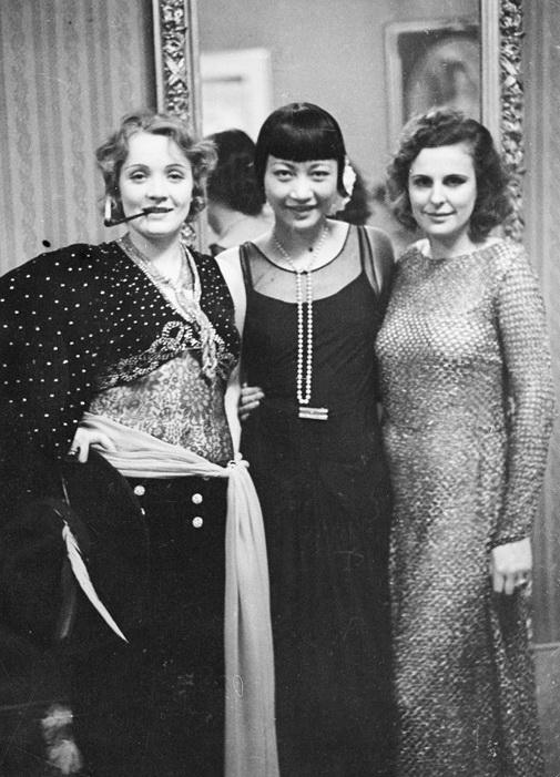 Марлен Дитрих, Анна Мэй Вонг и Лени Рифеншталь 1928