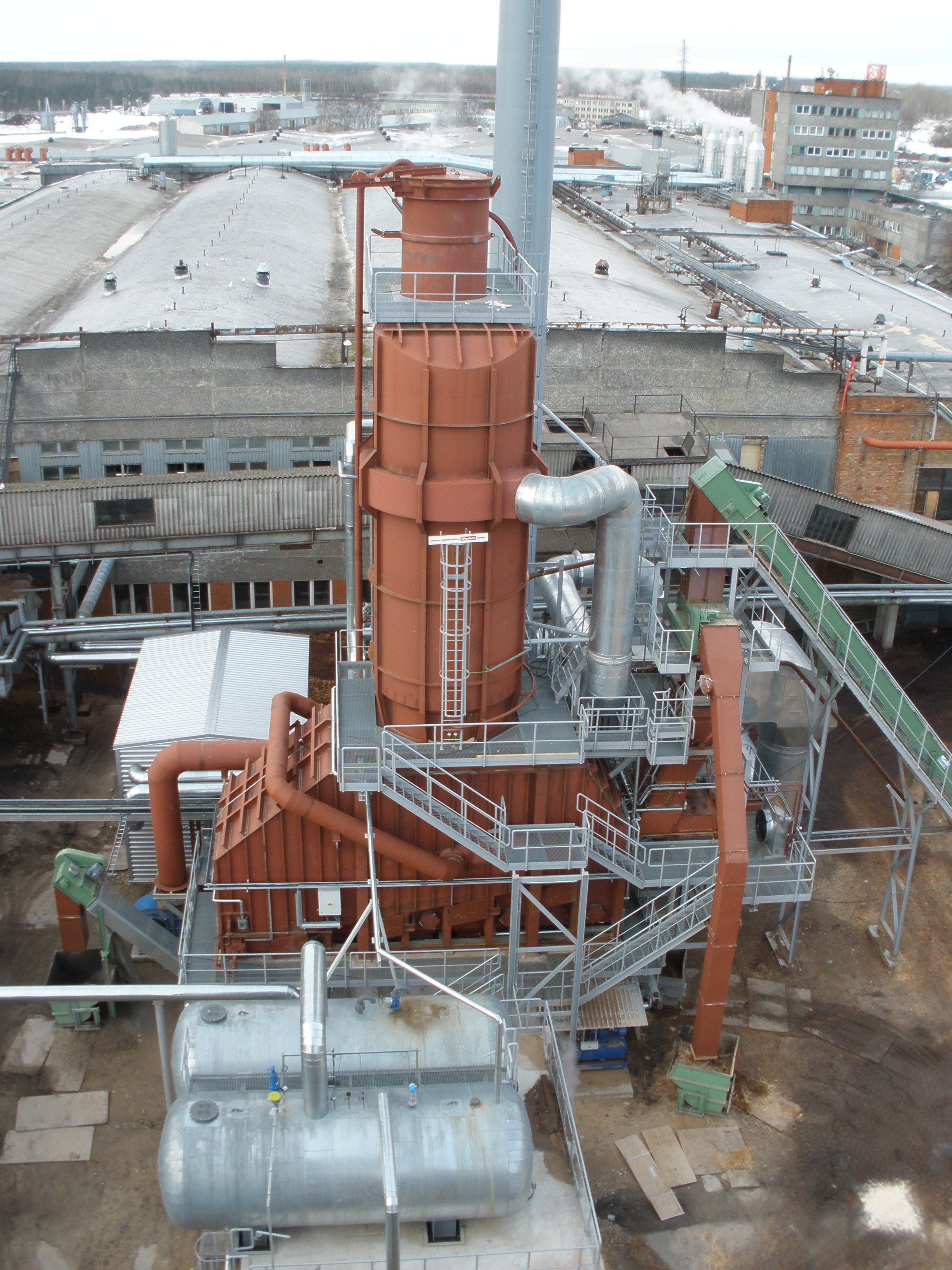 Termo-oil Boiler House 14MW, factory LIGNUMS