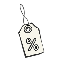 % Etikett