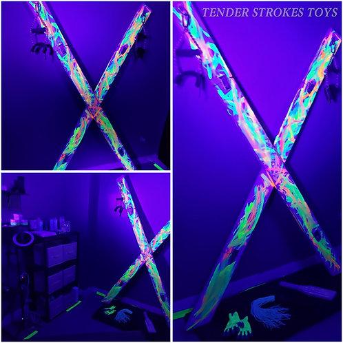 Customized 8 ft Portable UV Cross
