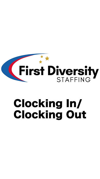 Training video on clocking in/clocking out