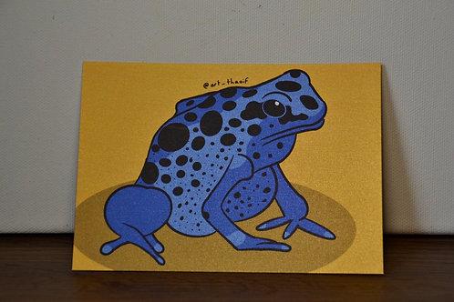 Blue Poison Dart Frog A6 Print