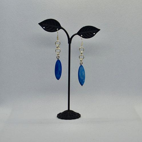Blue Long Drop Earrings