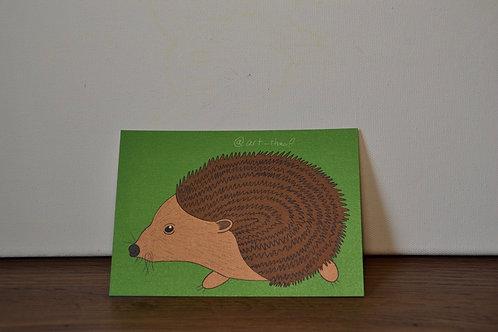 Happy Hedgehog A6 Art Print