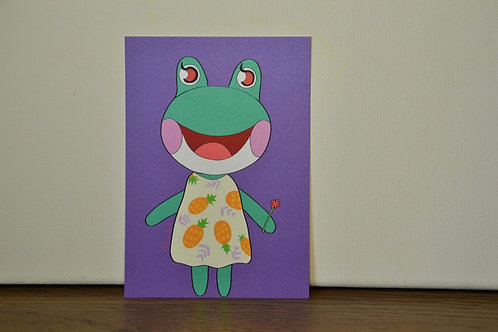 Lily from Animal Crossing A6 Print