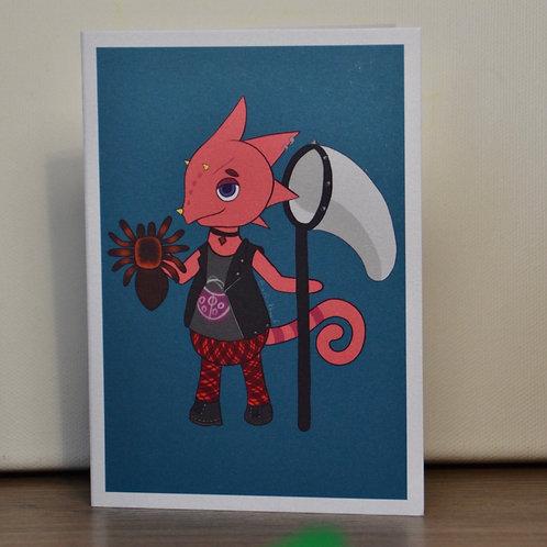 Flick with Tarantula A6 Printed Greetings Card