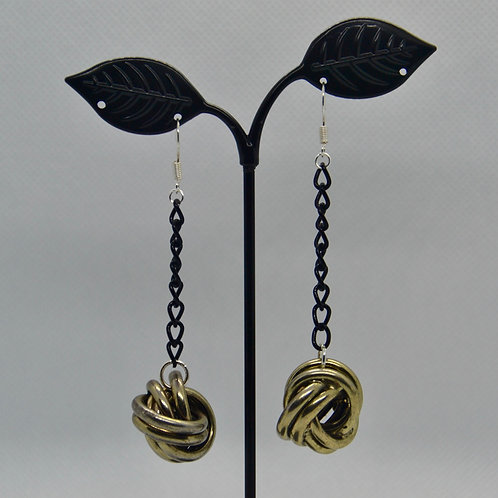 Gold Coloured Knot Earrings