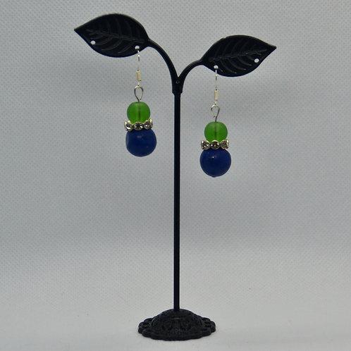 Small Blue/Green Drop Earrings
