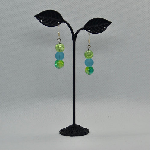 Blue and Green Drop Earrings