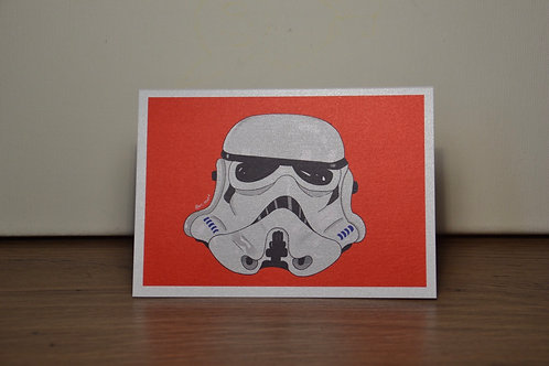 Storm Trooper A6 Greeting's Card