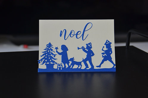 Little Drummer Boy and Friends Christmas Card With Christmas Phrase