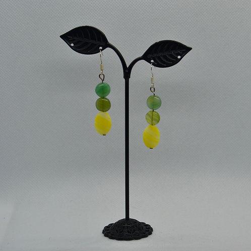 Lemon Drop Earrings - green and yellow earrings