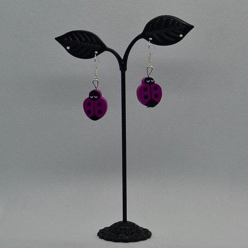 Pink Ladybird Earrings