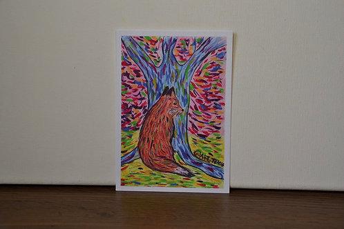 """""""Colours of a Fox"""" A6 Print"""