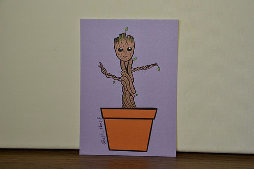 Baby Groot A6 Print