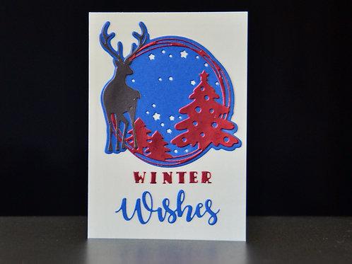 Reindeer Snowglobe Scene