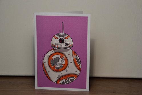 BB8 A6 Printed Greetings Card