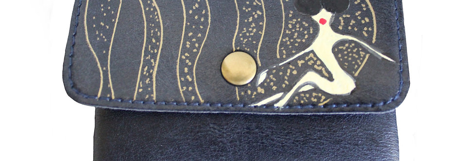 Mini Wallet With Button (on the Moon)