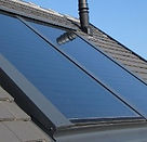 Solar thermal panel installation