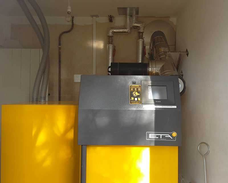 Log and Pellet Boiler Installtion