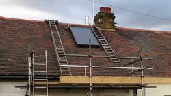 On Roof Solar Thermal Installation